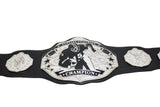 Fantasy Football Championship Belt Black Silver Undisputed Belts
