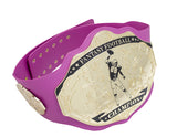 Fantasy Football Championship Belt Trophy Pink Gold Breast Cancer Awareness