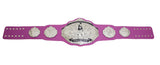 Fantasy Football Championship Belt Trophy Pink Silver Breast Cancer Awareness