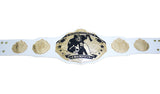 Fantasy Football Championship Belt White Silver Undisputed Belts