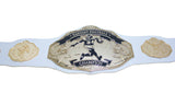 Fantasy Football Championship Belt Trophy White Gold Undisputed Belts