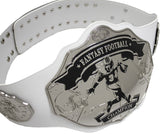 Fantasy Football Championship Belt Trophy White Silver Undisputed Belts