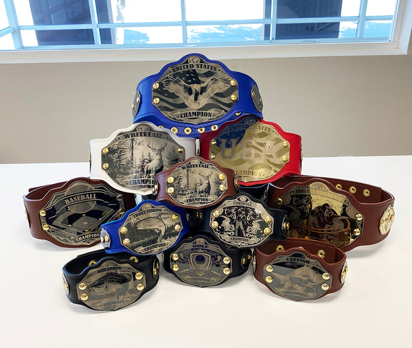 "10 Mini 28"" Custom Championship Belts"