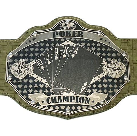 Poker Championship Belt - Custom Text