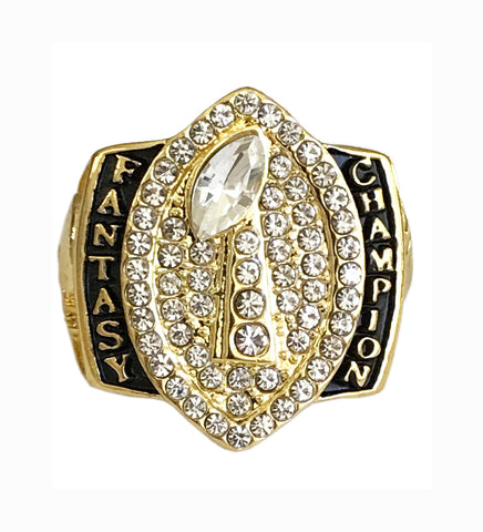personalized championship ring football trophy product dynastyrings standard fantasy rings