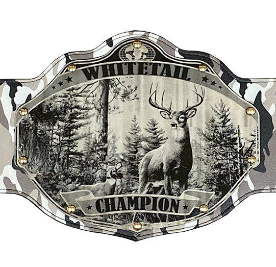 Deer Buck Hunting Championship Belt Trophy