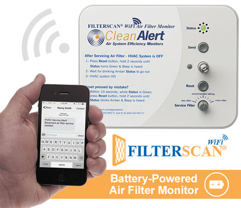 FILTERSCAN® WiFi HOME - BATTERY-Powered Air Filter Monitor (DIY)