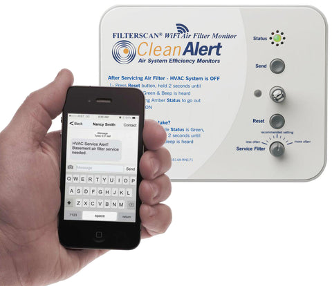 FS-245-B. FILTERSCAN® WiFi Battery-powered Air Filter Monitor