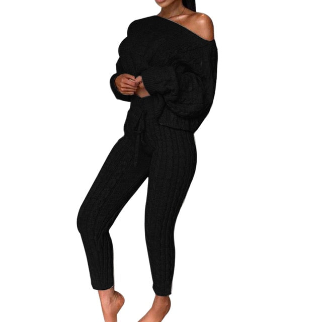 AUTUMN CROPPED SWEATER SET (more colors) - La Vidaa Bella