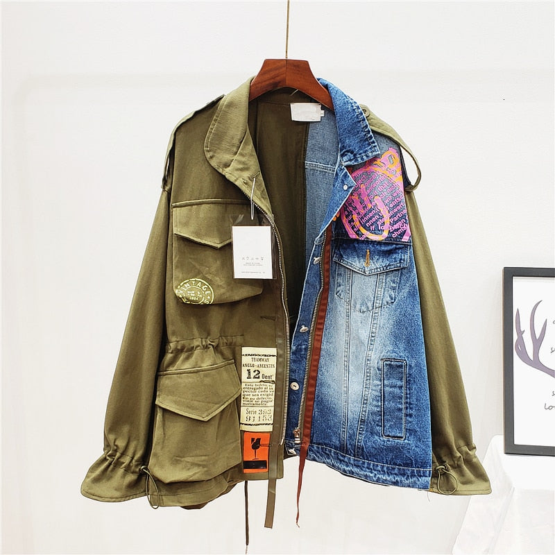 CARGO & DENIM JACKET - La Vidaa Bella