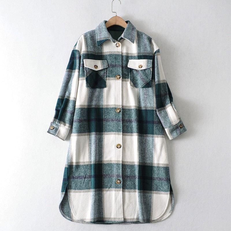 THE GABRION PLAID COAT - La Vidaa Bella