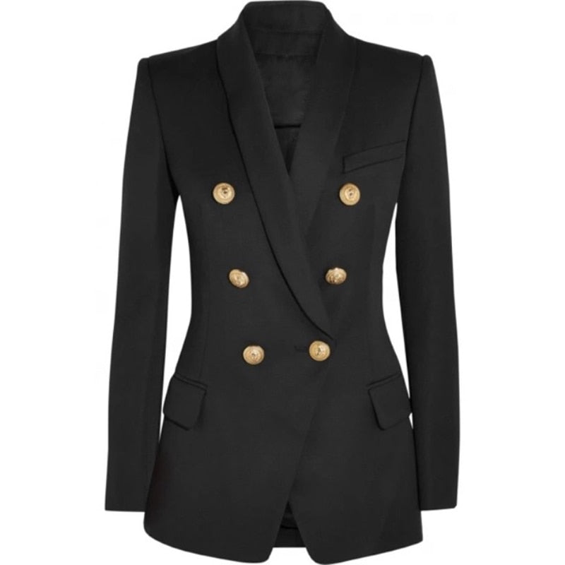 BAILEY LONG DOUBLE BREASTED BLAZER - La Vidaa Bella