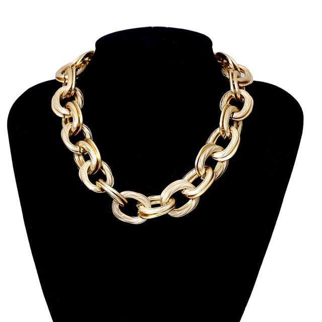 CHUNKY LINK NECKLACE - La Vidaa Bella