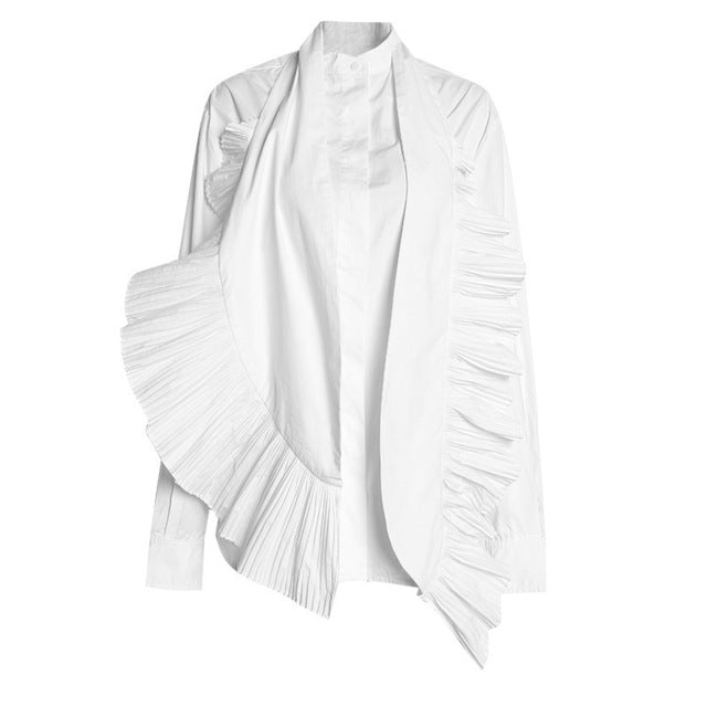 RUFFLE THIS OVERSIZED BUTTON DOWN