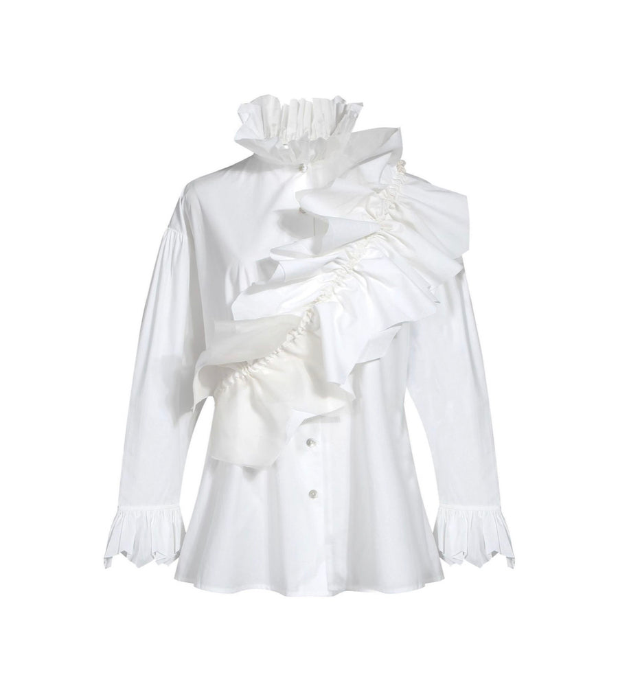 RUFFLES GALORE BUTTON DOWN