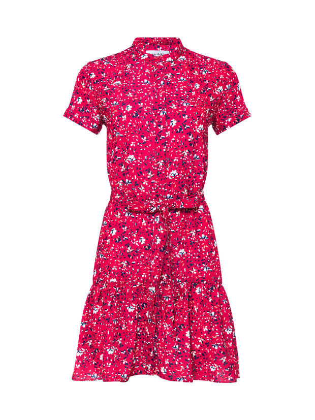 Floral Printed Chloe Dress Pink