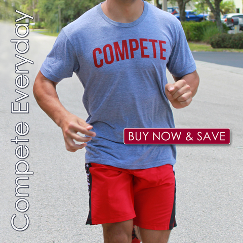 Compete Everyday mens shorts and shirt