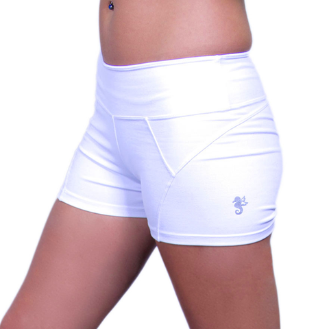 Angel del Mar Women's White Workout Delirio Shorts