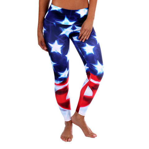American Flag Leggings Crossfit Yoga USA