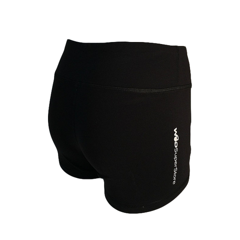 WOD SuperStore women's black workout shorts. Women's Running shorts. Spandex WOD Shorts for CrossFit