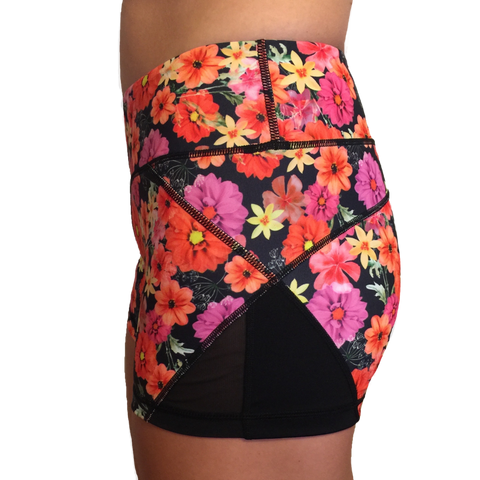 Born Primitive Double Take Booty Shorts (Bright Floral)