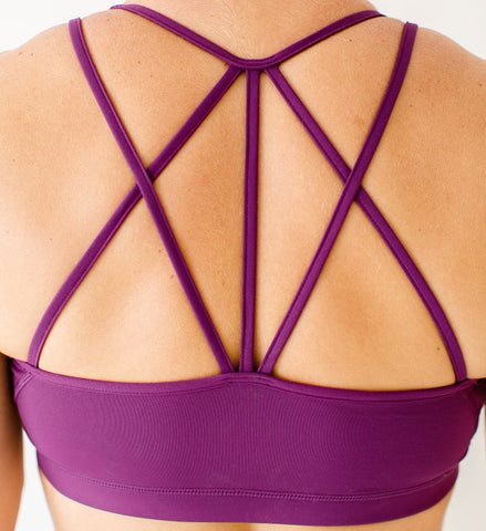Born Primitive Rhapsody Sports Bra (Eggplant)