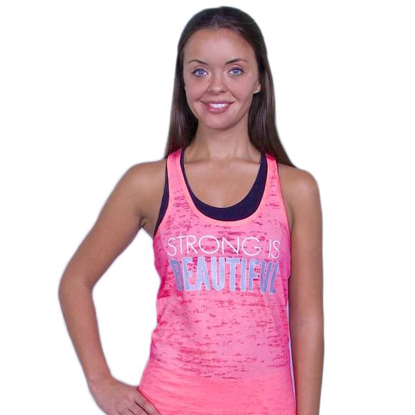 Glow girl Fitness Strong is Beautiful Tank