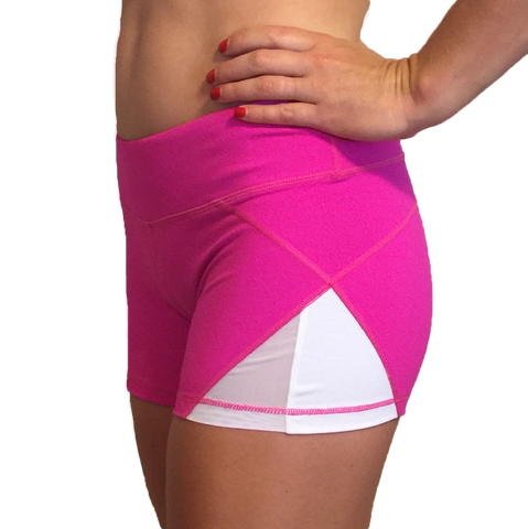 Born Primitive Double Take Booty Shorts (Fuschia)
