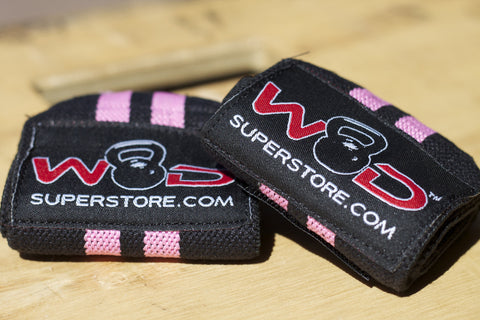 WODSuperStore Wrist Wraps in Pink and Black | WODSuperStore.com
