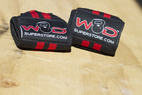 WODSuperStore Wrist Wraps in Red and Black