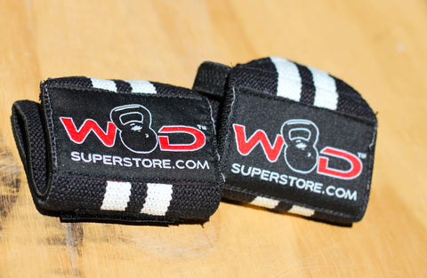 WOD SuperStore Wrist Wraps Black and White