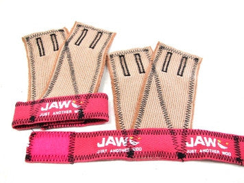 JAW Pull up Gloves Pink with Black Stitch