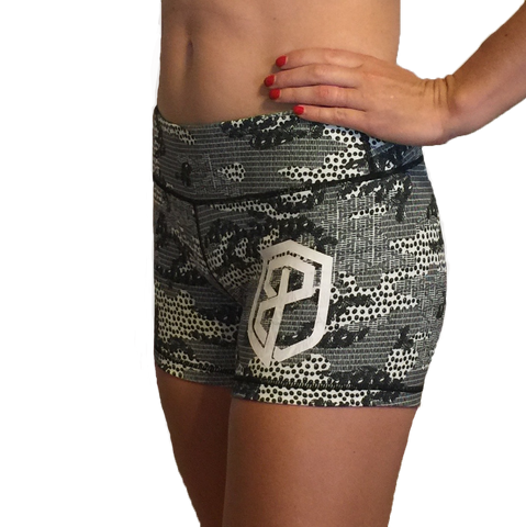 Born Primitive Double Take Booty Shorts (Lace Camouflage)