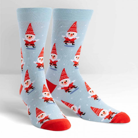 Mens Santa Gnome Crew Socks