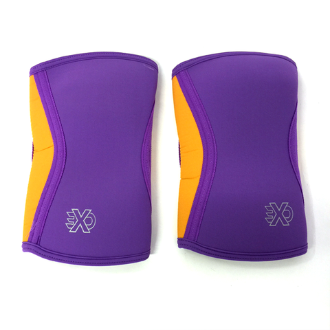 Exosleeve Knee Sleeve Purple with Orange