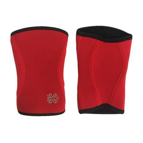 Exo Sleeve Knee Sleeve in Red with Black
