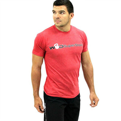 WOD SuperStore Men's Red Logo Tee