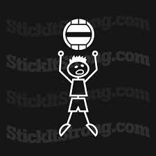 Stick it Strong Wall Ball Boy CrossFit Auto Decal