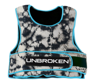 Unbroken Design Electric Blue Tie Dye 30lb Vest