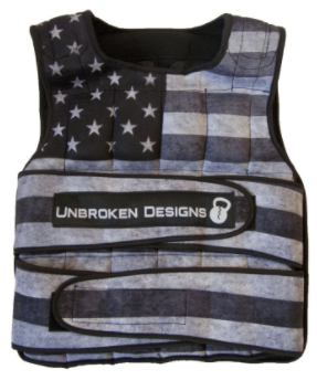 Unbroken Design Stars and Stripes 40lb Weight Vest