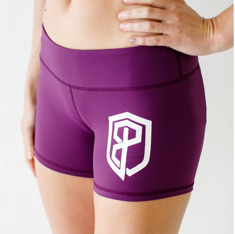 Born Primitive Renewed Vigor Booty Shorts (Eggplant)