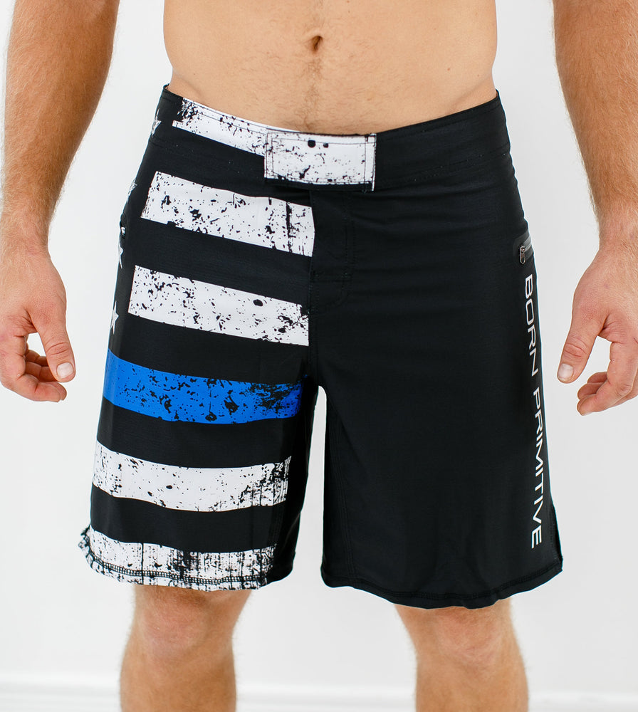 Born Primitive American Defender Shorts 2.0 (Thin Blue Line Edition)