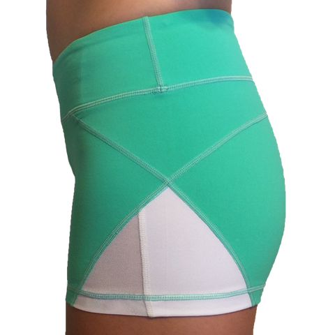 Born Primitive Double Take Booty Shorts (Teal)