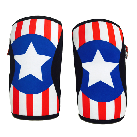 US Flag Rock Tape Knee Caps