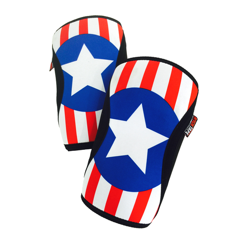 US Flag Rock Tape Knee Caps 5mm