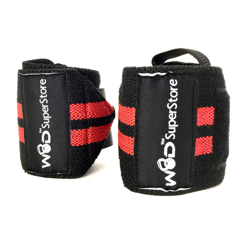 WOD SuperStore Wrist Wraps-Pro Series Red Stripe