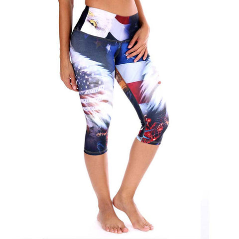 4th of July workout yoga capris