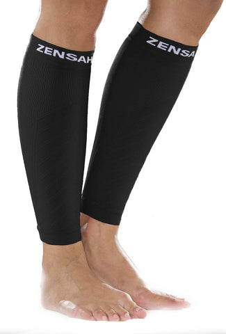 Zensah Black Compression Leg Sleeves
