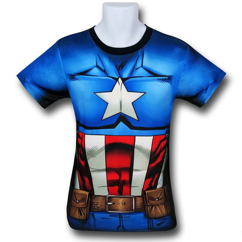 Captain America Sublimated T-Shirt