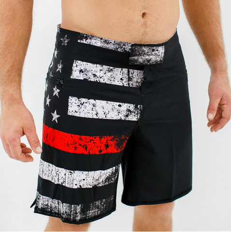 Born Primitive American Defender Shorts 2.0 (Thin Red Line Edition)